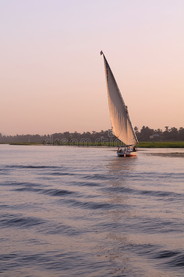 Felucca Sailing On River Nile Royalty Free Stock Images