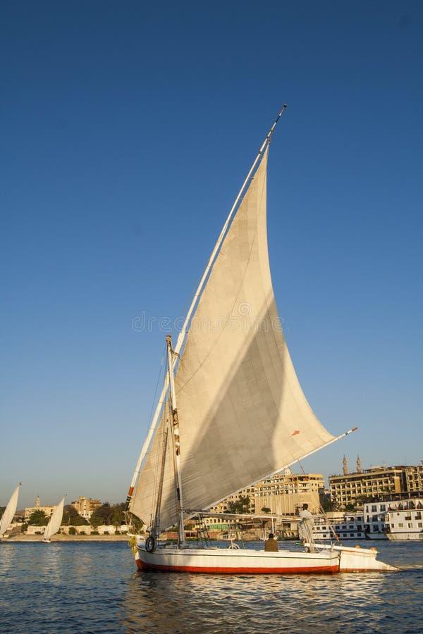 Feluccas na Nile przy Aswan obraz royalty free