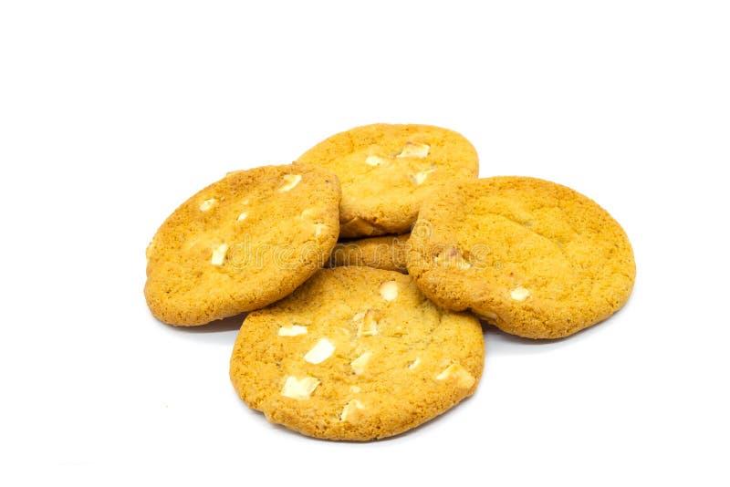 Fem hem bakad choklad Chip Cookies royaltyfri fotografi