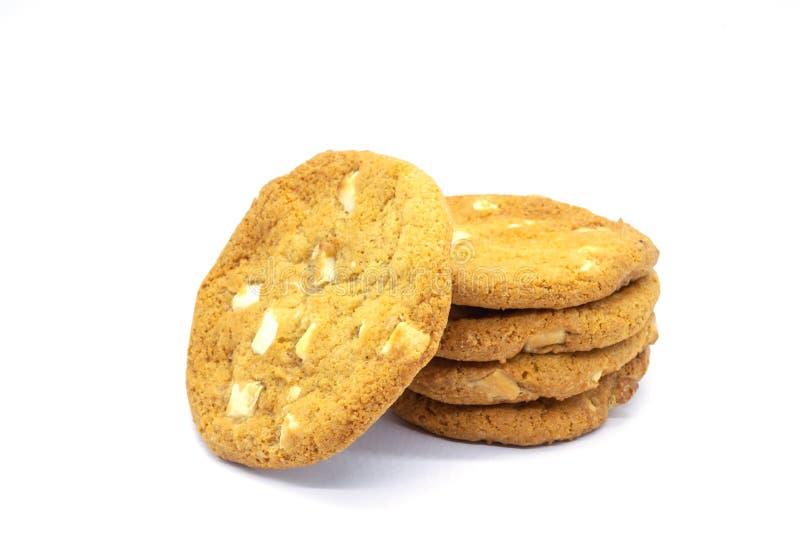 Fem hem bakad choklad Chip Cookies royaltyfria foton