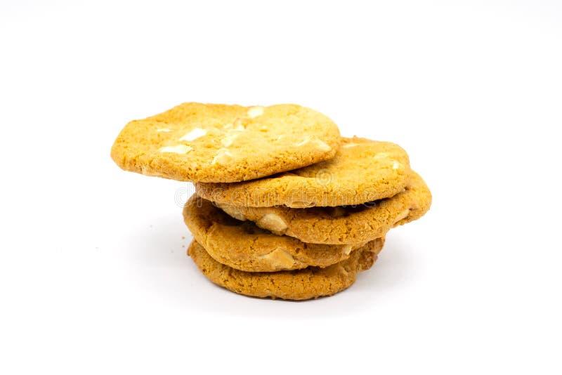 Fem hem bakad choklad Chip Cookies arkivbilder