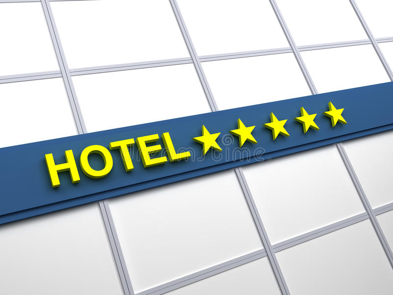 fem hotellstjärnor arkivfoto