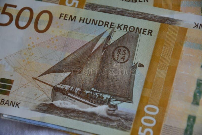 500 fem hundre kroner money bill.  royalty free stock photo