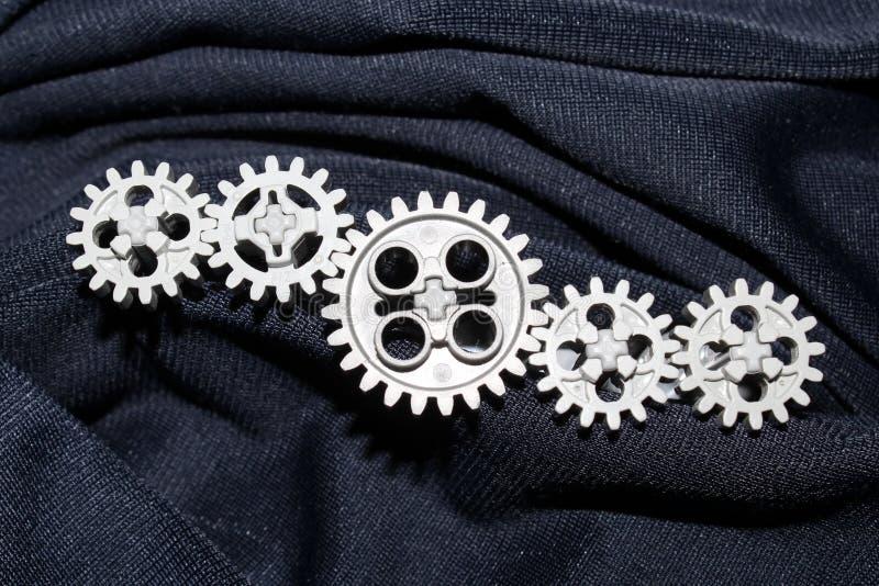 Fem kugghjul, får förbindelse arkivbilder