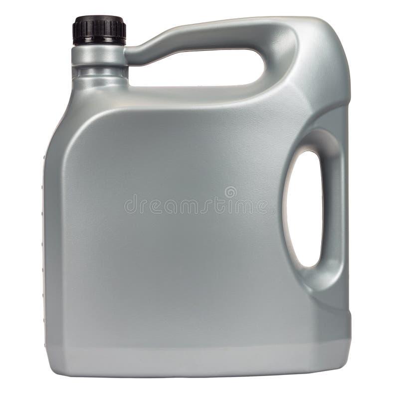 Fem liter motorolja fotografering för bildbyråer