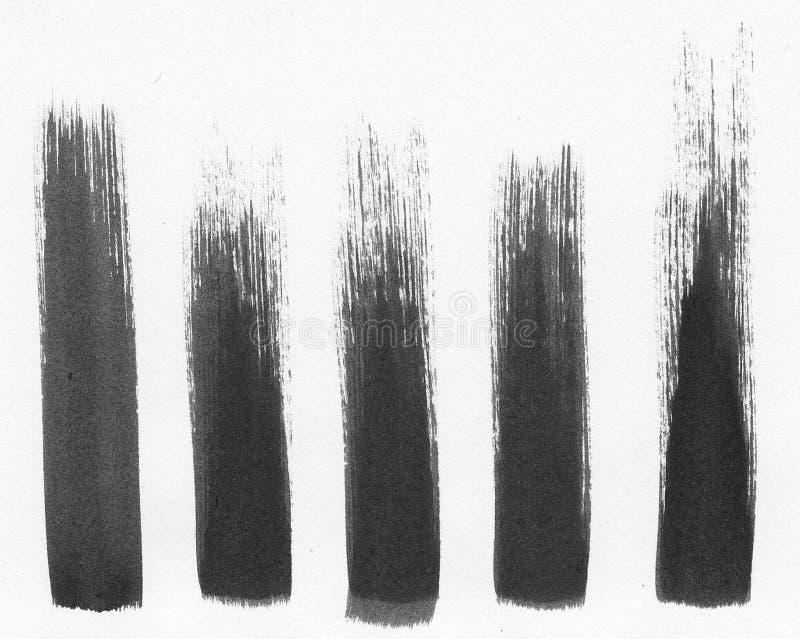 Fem målarfärgslaglängder arkivfoton