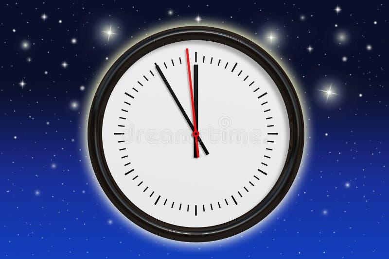 Fem minuter för midnatt royaltyfri illustrationer