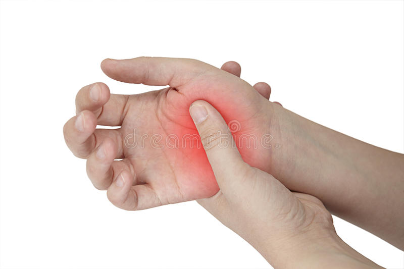 femal手伤 免版税库存照片