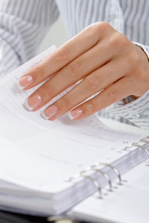 Download Femal hand turning page stock image. Image of page, clear - 10087639