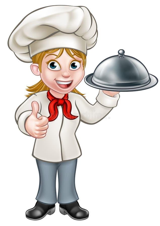 Femal Woman Chef Cartoon Character Stock Vector ...