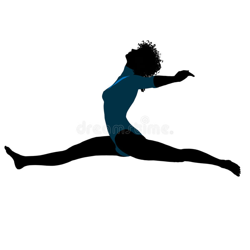 Download Female African American Gymnast Silhouette Stock Photography - Image: 15480072