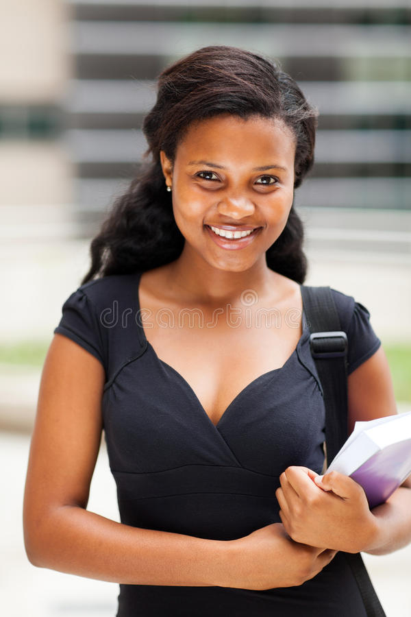 Female African Student Royalty Free Stock Images