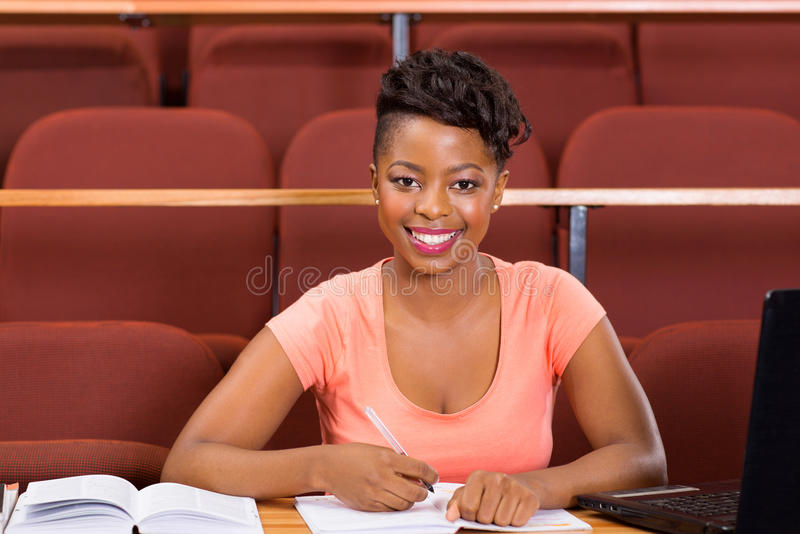 Female african university student royalty free stock image