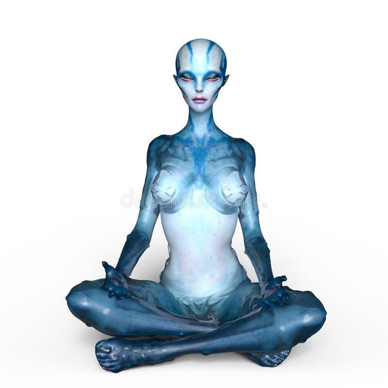 Female alien royalty free illustration