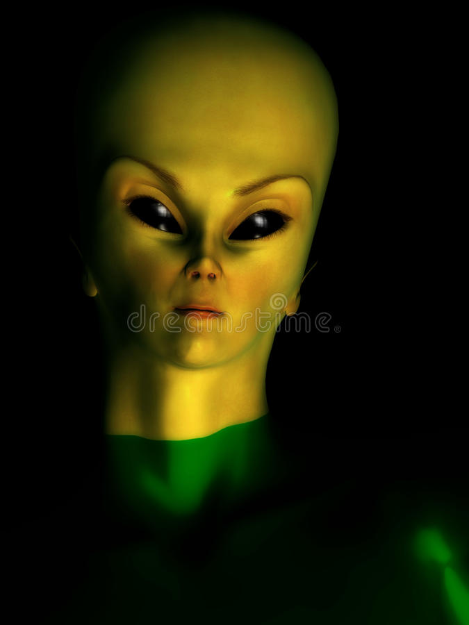 Female Alien Hybrid royalty free illustration