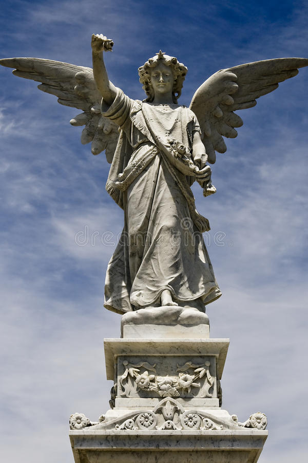 Female angel statue stock images