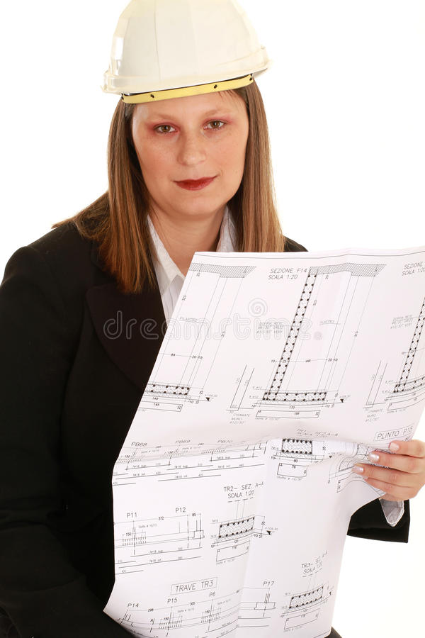 Download Female architect stock photo. Image of constructor, beautiful - 13228658