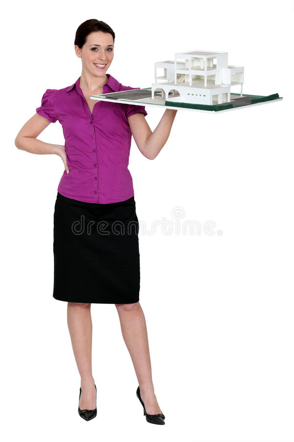 Download Female architect stock photo. Image of holding, family - 26585802