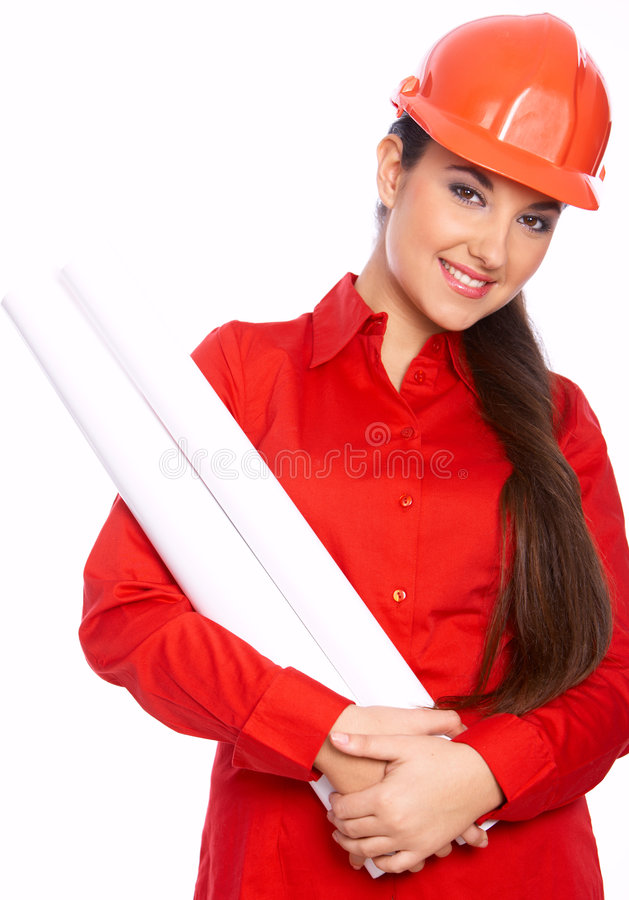 Female Architect stock image