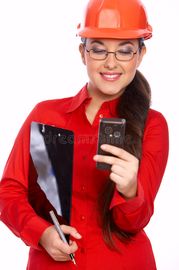 Download Female Architect stock image. Image of businesswoman, helmet - 7177725