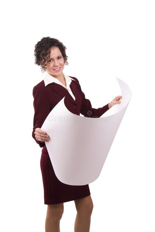 Download Female Architect With Blueprints. Stock Photo - Image: 12801432