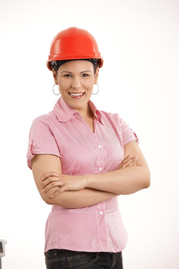 Download Female Architect Standing With Arms Crossed Stock Image - Image: 17178203