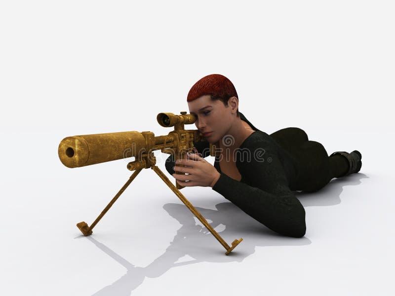 Female Assassin Stock Image