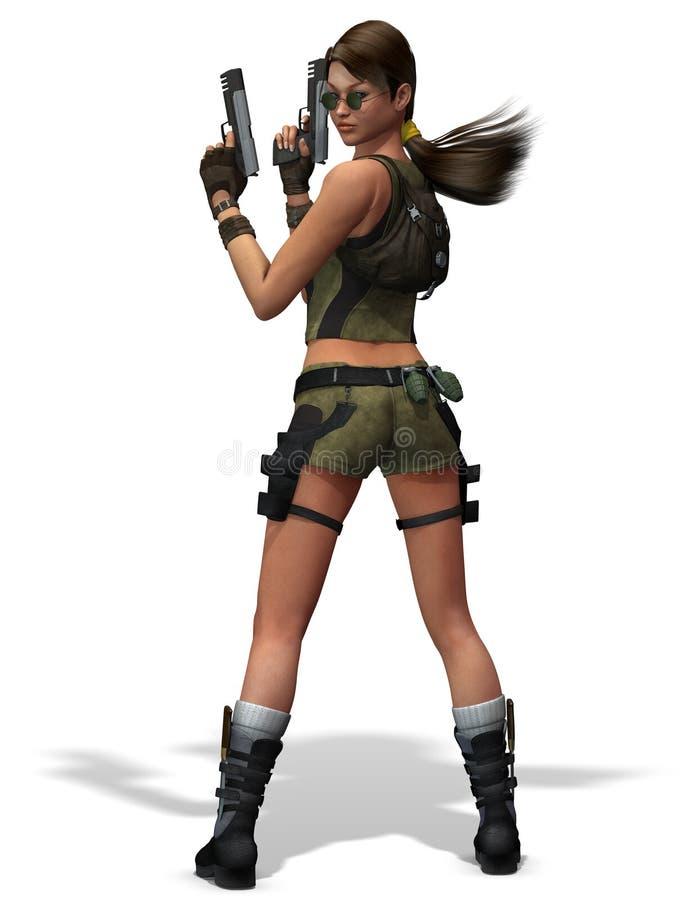 Female Assassin video game royalty free illustration