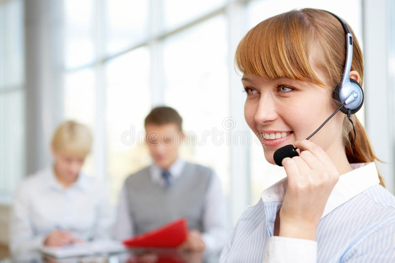 Female assistant royalty free stock photography