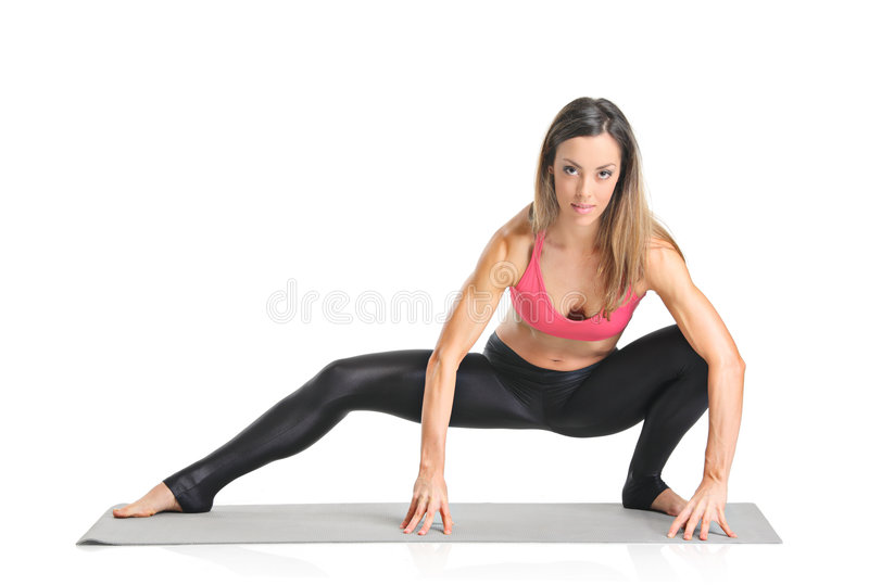 Download A female athlete stock image. Image of caucasian, color - 9297215
