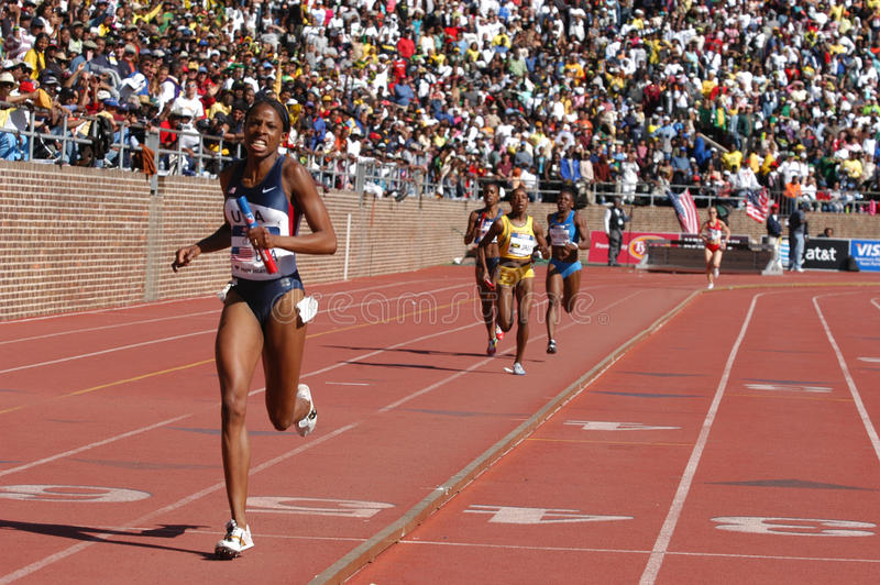 Female athletic race stock photography