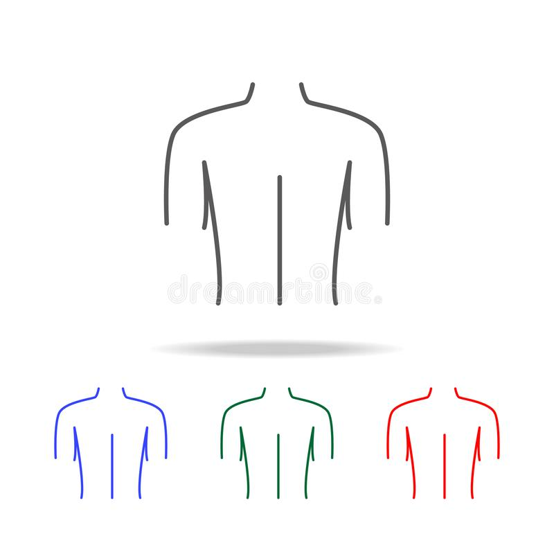 Female Back Shoulder Icon Elements Of Human Body Parts Multi