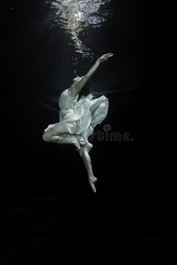 ballerina underwater royalty free stock photos