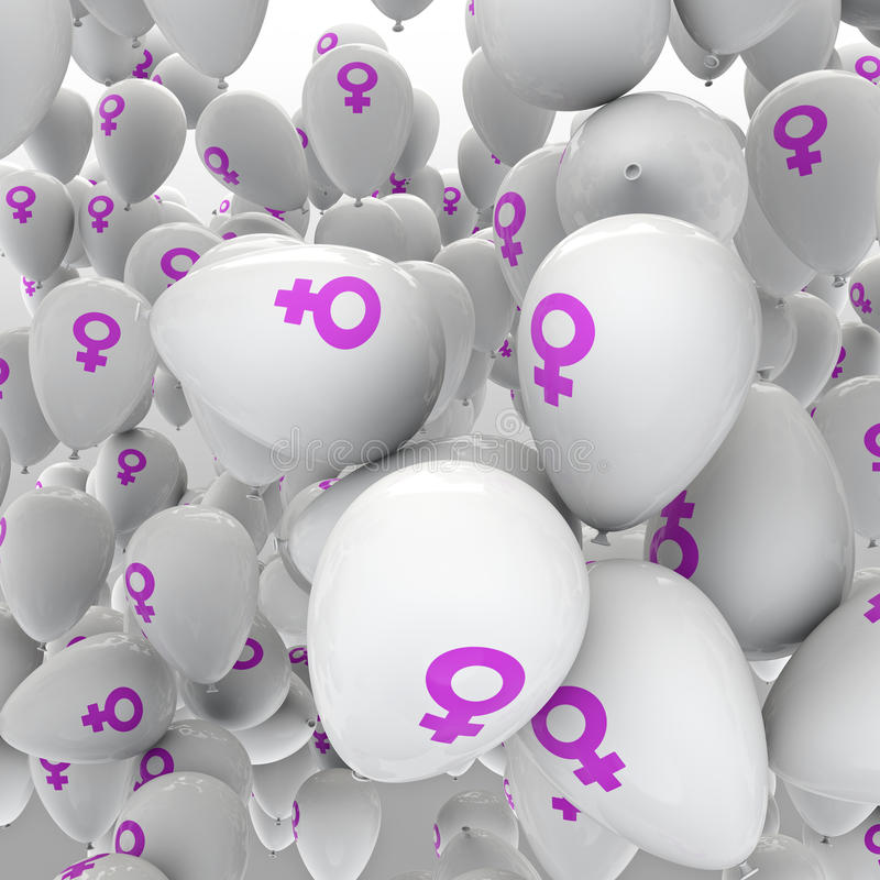 Female Balloons Stock Images