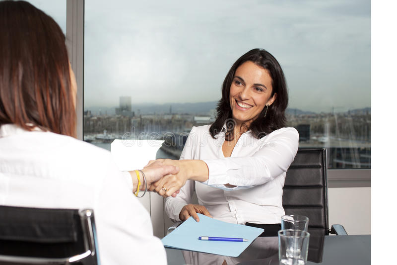 Female banker royalty free stock photos