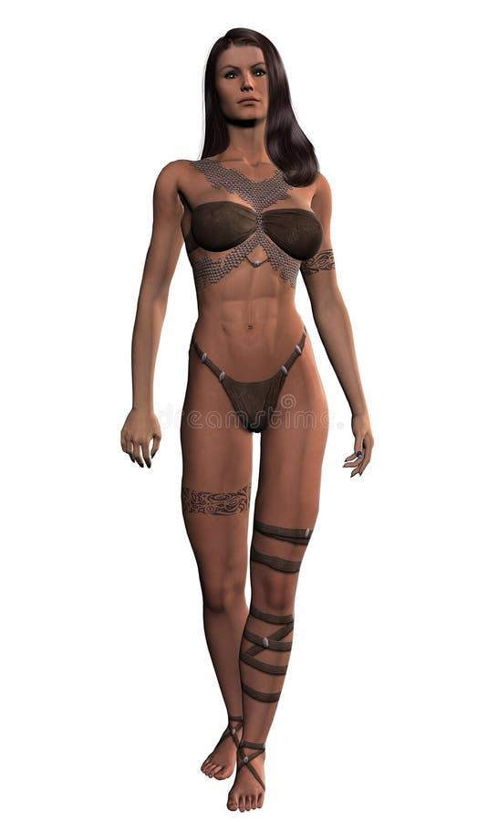 Download Female Barbarian stock illustration. Illustration of fitness - 3497813