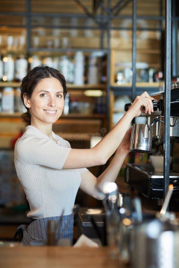 Female barista royalty free stock photo