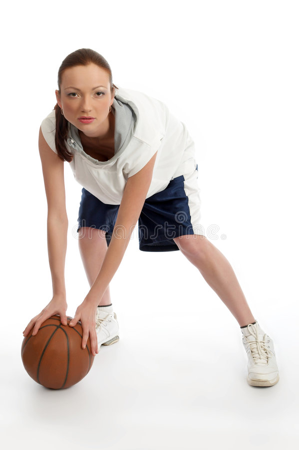 Download Female basket ball player stock image. Image of people - 5244573