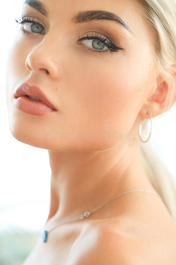 Female beauty in close-up royalty free stock images