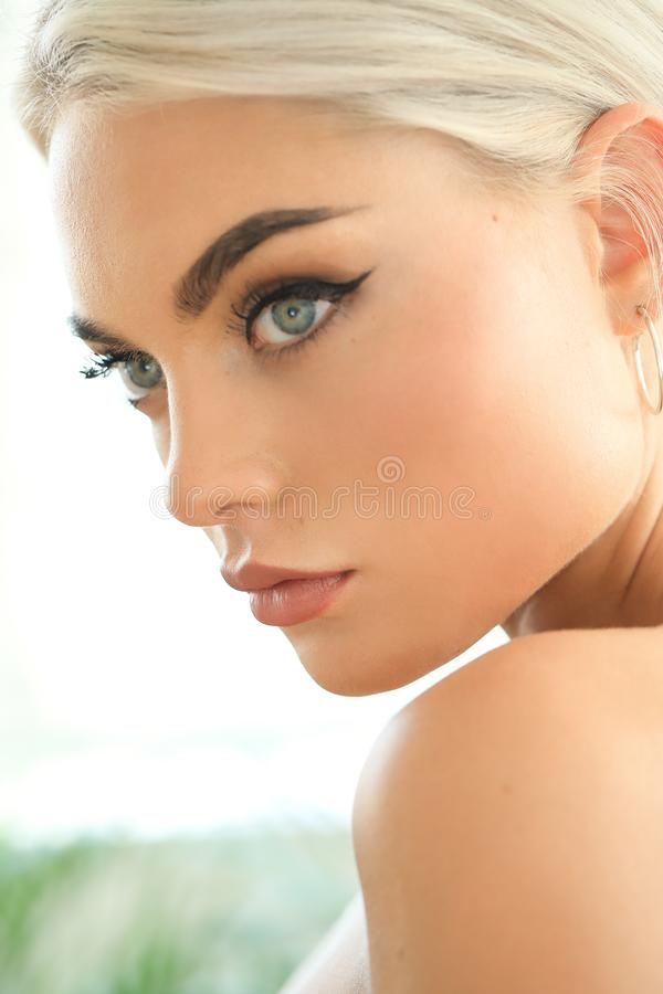 Female beauty in close-up stock images