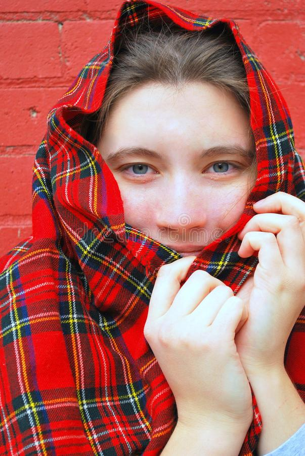 Female beauty expression outside. stock photos