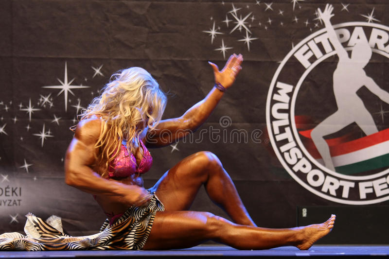 Download Female bodybuilder editorial stock photo. Image of hungary - 23659463