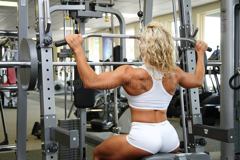 Female bodybuilder stock photos