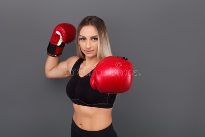Female bodybuilder boxing stock photo. Image of athlete ...