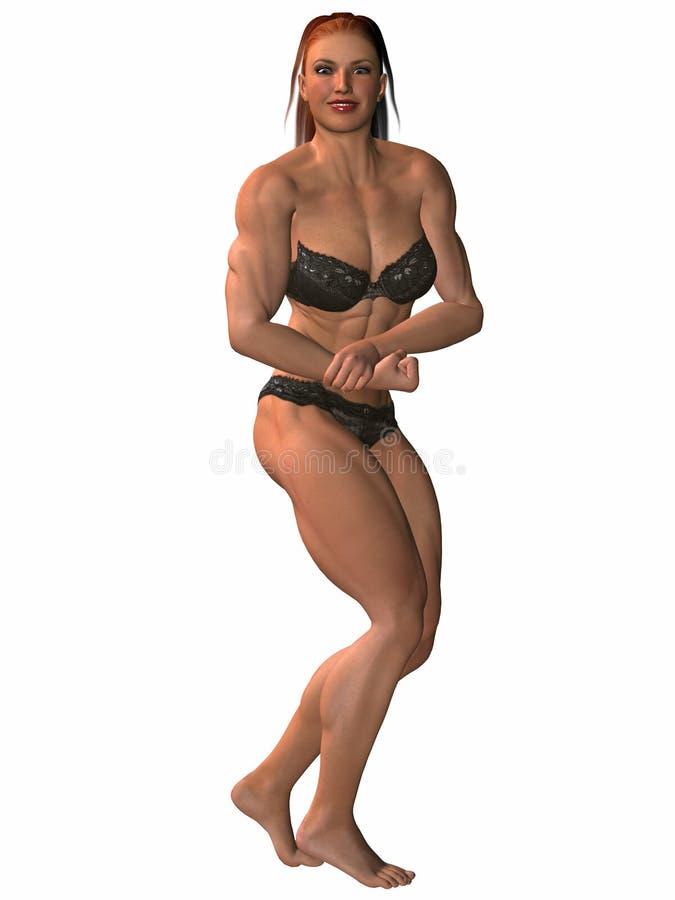 Female body builder erotic pose