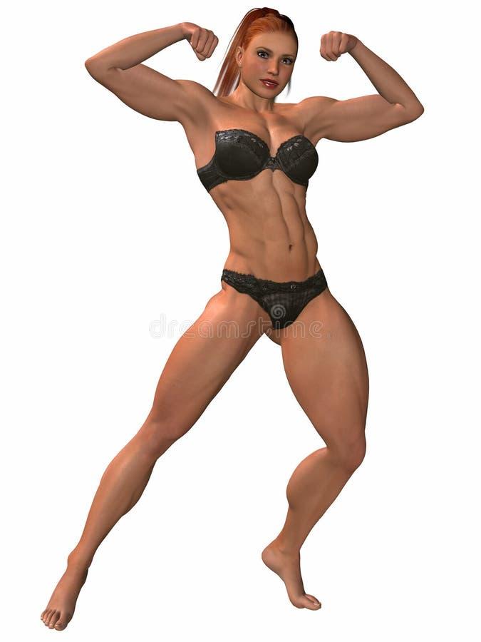 Female Bodybuilder Pose Stock Image