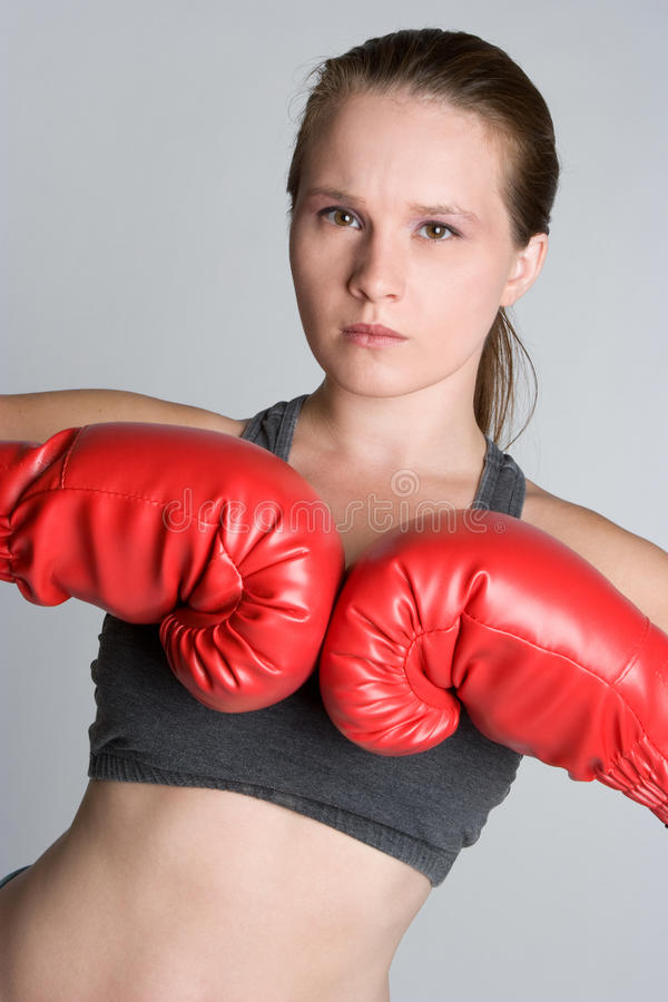 Download Female Boxer stock image. Image of person, expression - 10736861