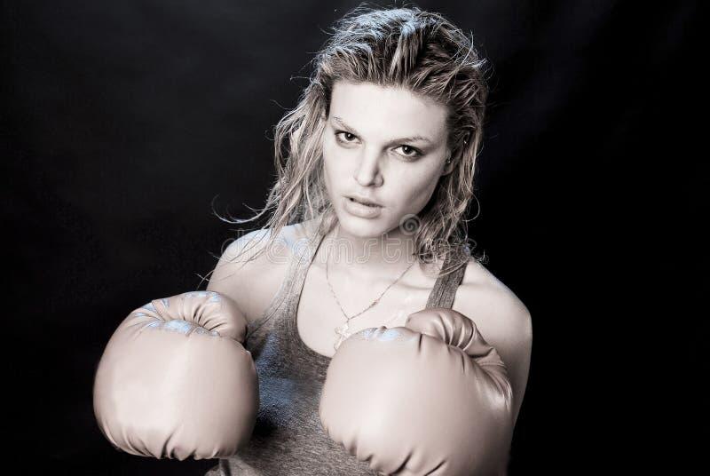 Download Female boxer stock photo. Image of aggressive, glove - 10896248