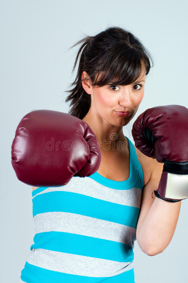 Download Female boxer stock photo. Image of boxing, padded, female - 20351324