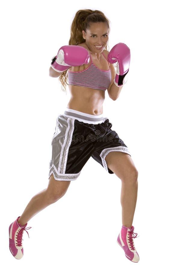 Female boxer royalty free stock photos